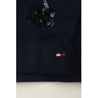 Spódnica Viscose Tommy Hilfiger granatowy