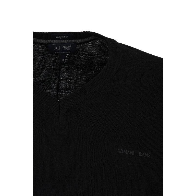 Sweter Armani Jeans czarny