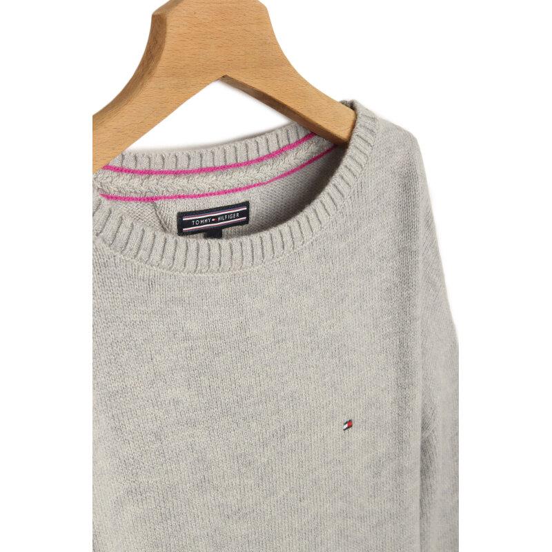 Sweter Soft Tommy Hilfiger popielaty