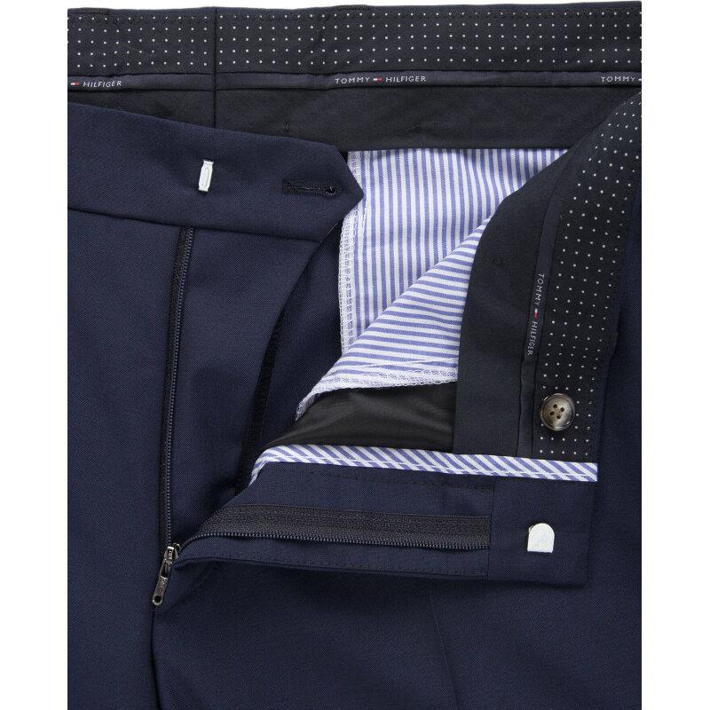 Spodnie Rhames Tommy Hilfiger Tailored granatowy