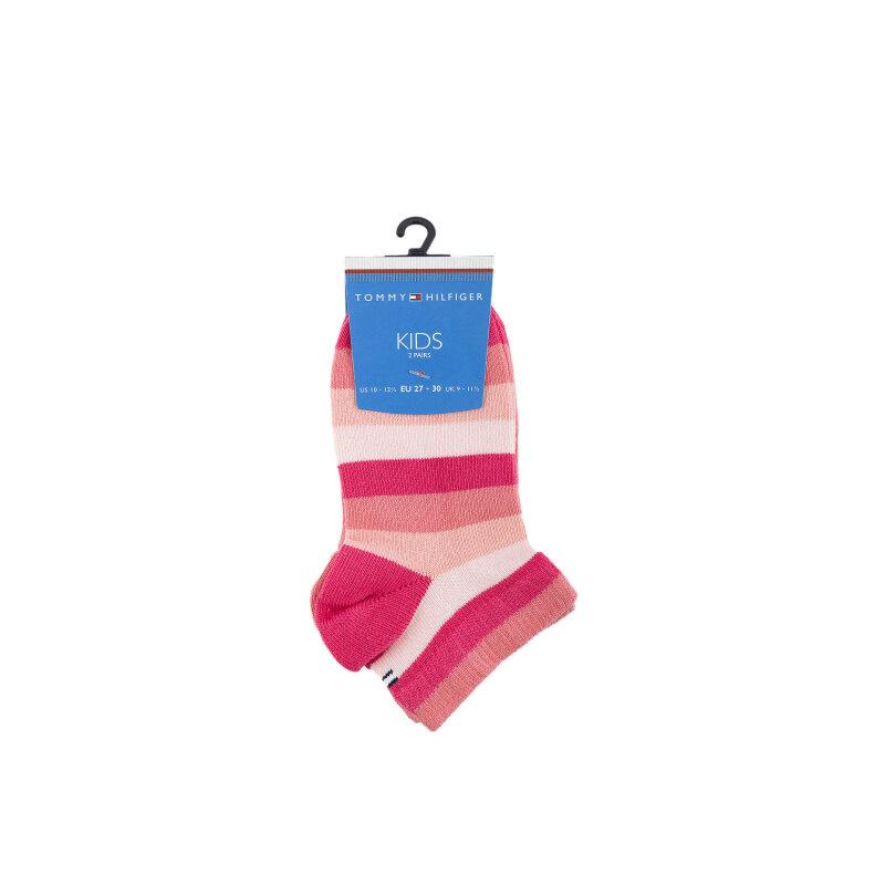 Skarpety 2-pack Tommy Hilfiger różowy