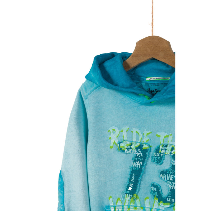 Sweter Seb Pepe Jeans London turkusowy