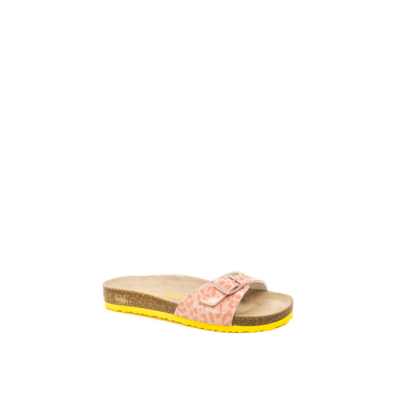 Bio Leopard Slides Pepe Jeans London peach