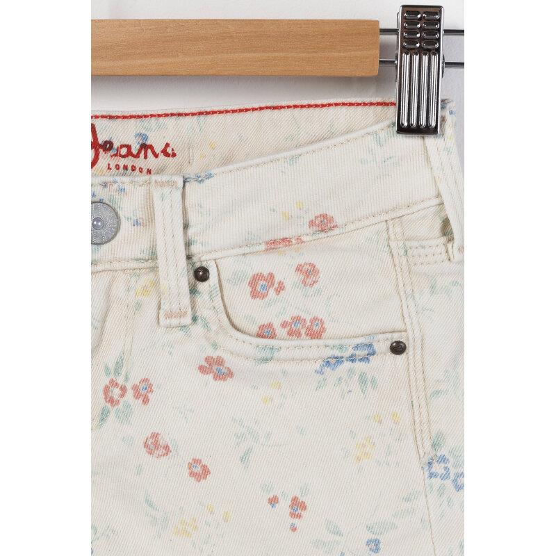 Sarah Denim shorts Pepe Jeans London cream