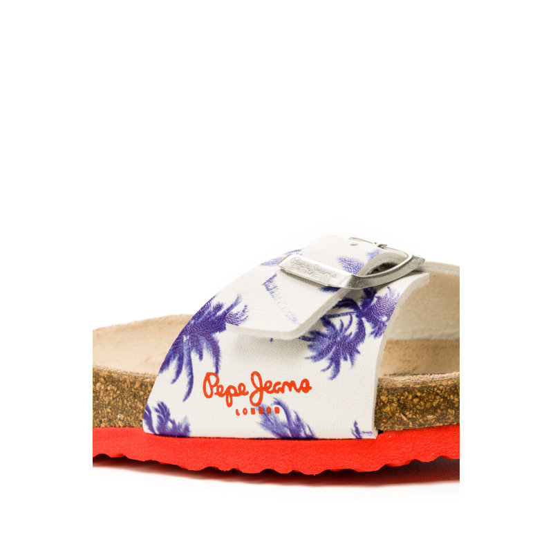 Bio Palm Slides Pepe Jeans London white