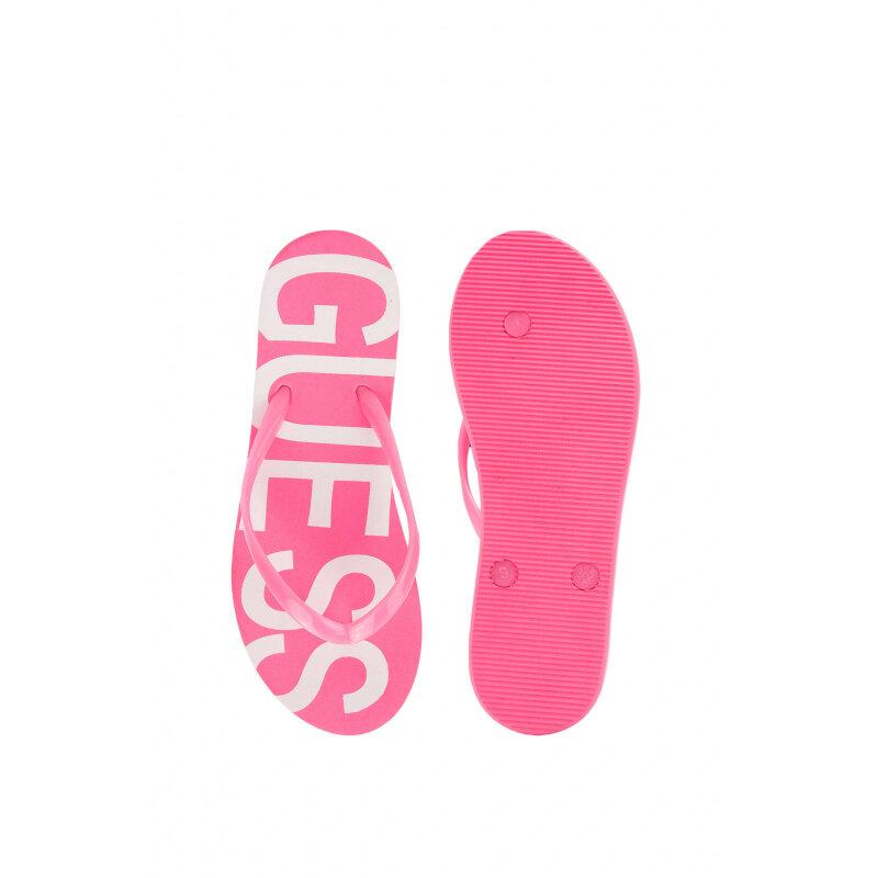 Japonki Logo Guess różowy