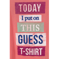 T-shirt Guess koralowy