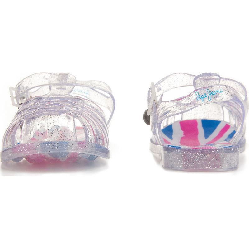 Jelly Jack Sandals Pepe Jeans London silver