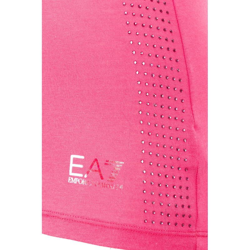 Top EA7 różowy