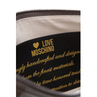I Love Embossed Clutch Love Moschino gray