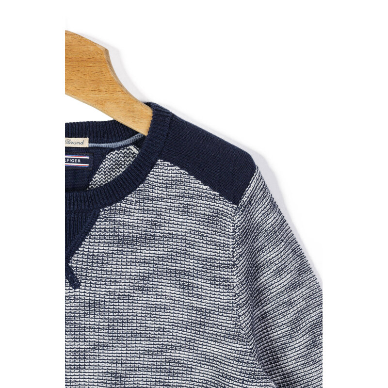 Sweter Roger Tommy Hilfiger granatowy