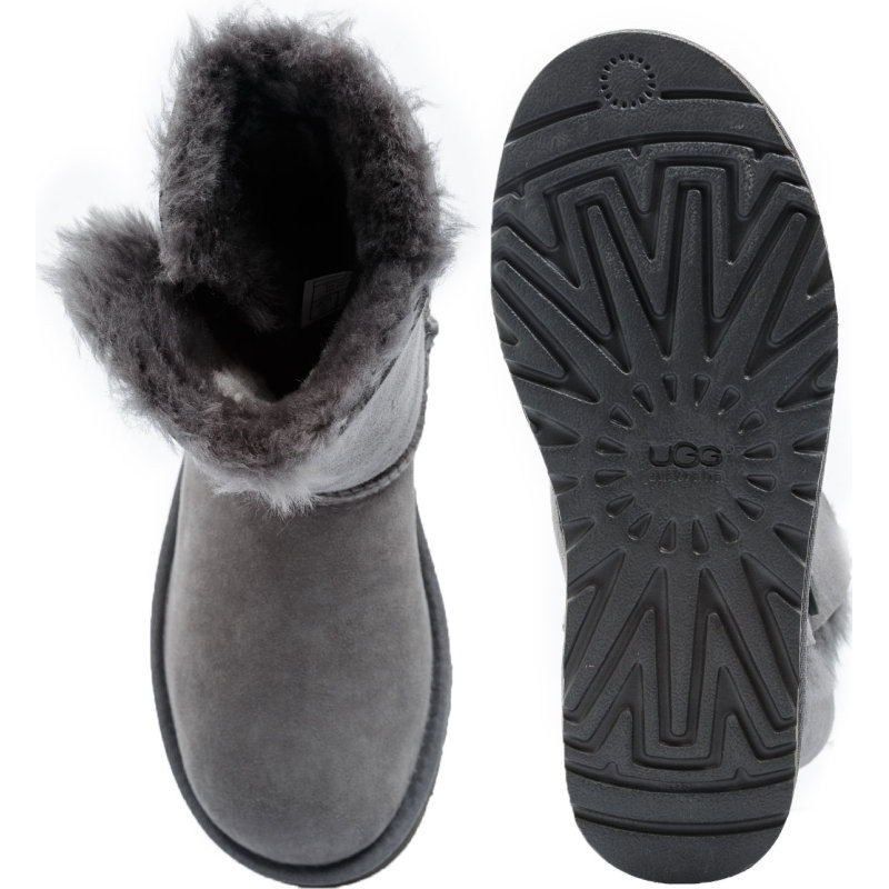 Śniegowce Bailey Button UGG szary