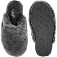 W Fluff Clog Slippers UGG gray