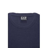 T-shirt EA7 granatowy
