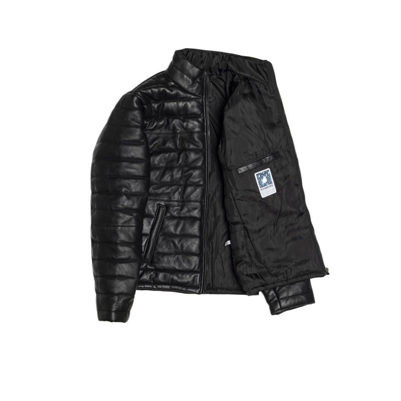 Leather jacket Trussardi Jeans black