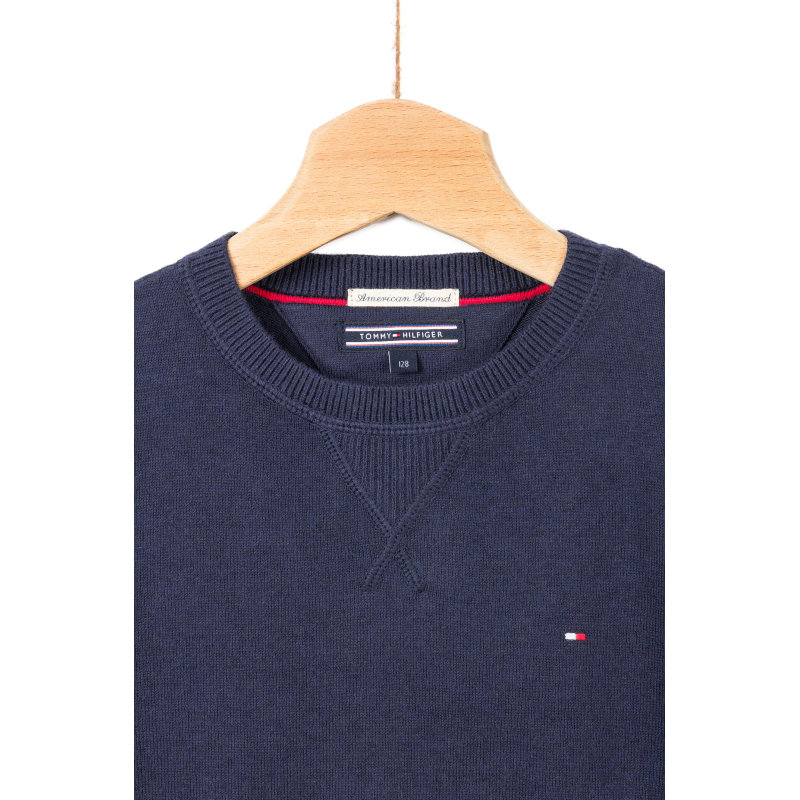Sweter Tommy Tommy Hilfiger granatowy