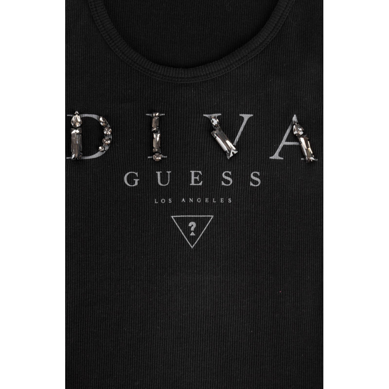 Top Diva Guess Guess Jeans czarny