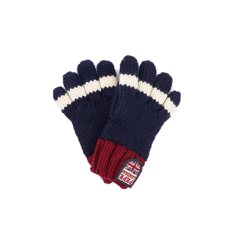 Rękawiczki Malon Pepe Jeans London granatowy