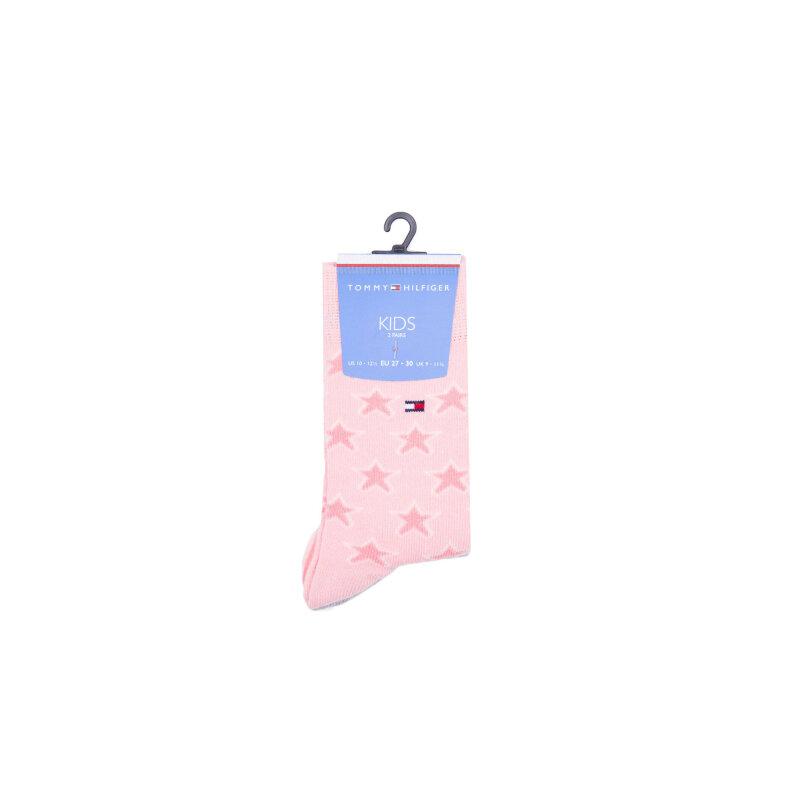 Skarpetki 2 Pack Tommy Hilfiger różowy