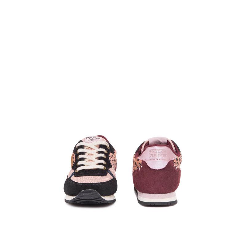 Sneakersy Sidney Leopard Pepe Jeans London różowy