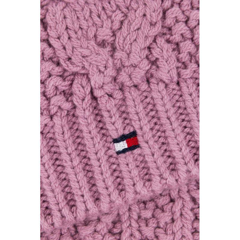 Szalik Solid Mini Tommy Hilfiger różowy
