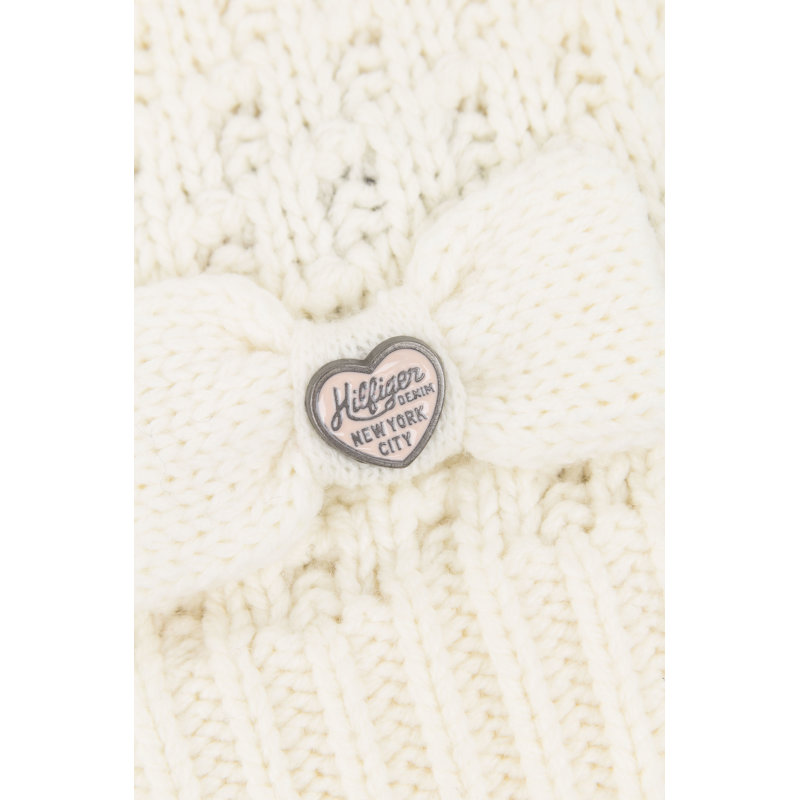 Solid Mini Beanie Tommy Hilfiger white