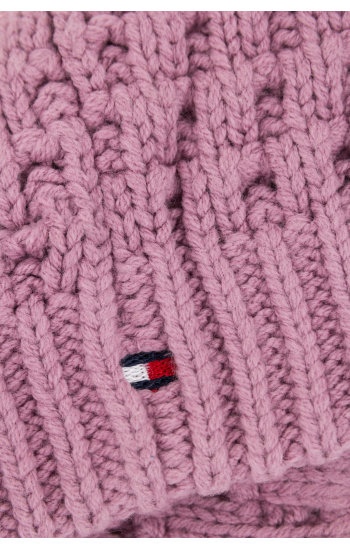 Czapka Solid Mini Tommy Hilfiger różowy