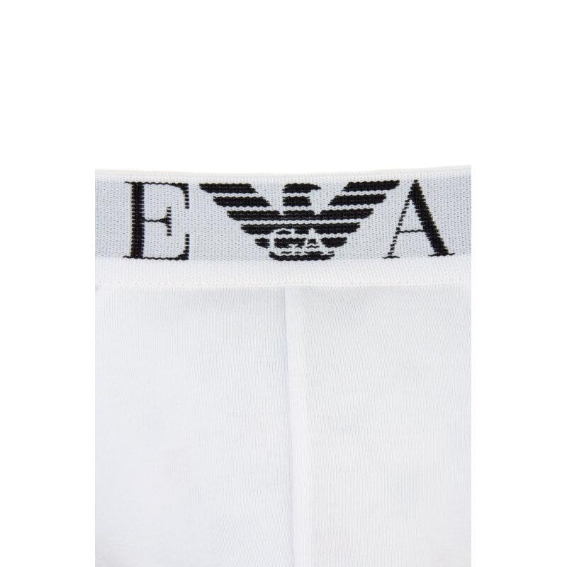 Slipy 2 Pack Emporio Armani biały
