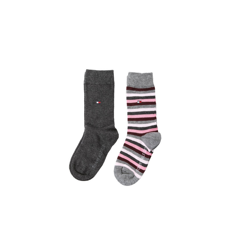 Fun Stripe Socks 2 Pack Tommy Hilfiger gray