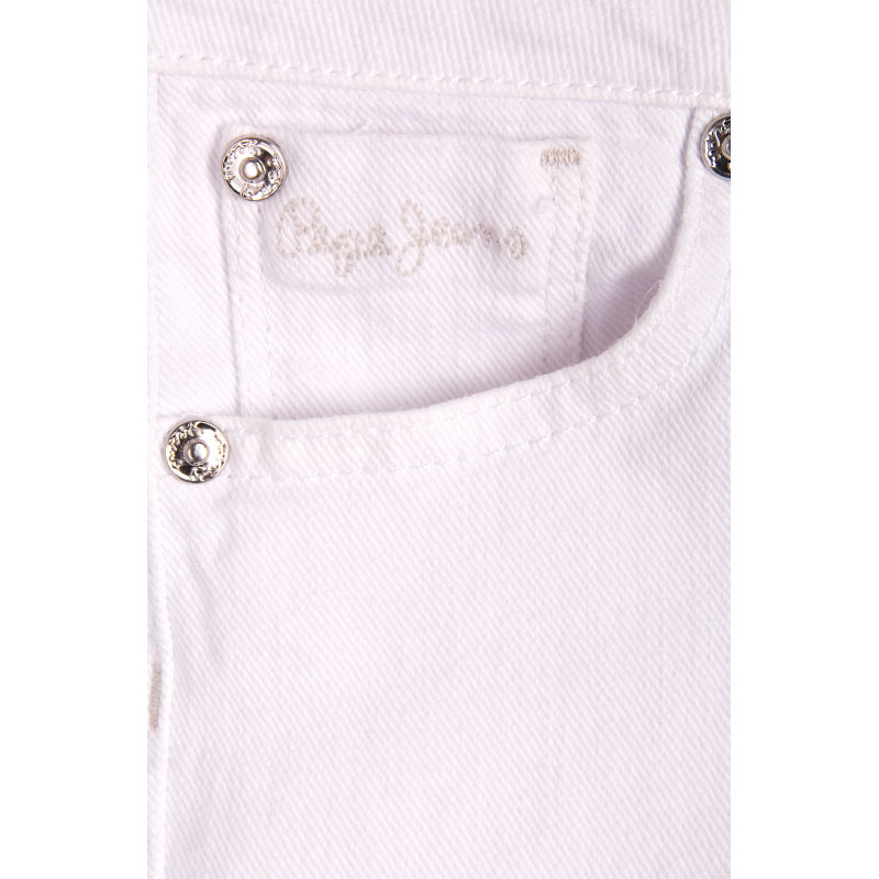 Foxtail Shorts Pepe Jeans London white