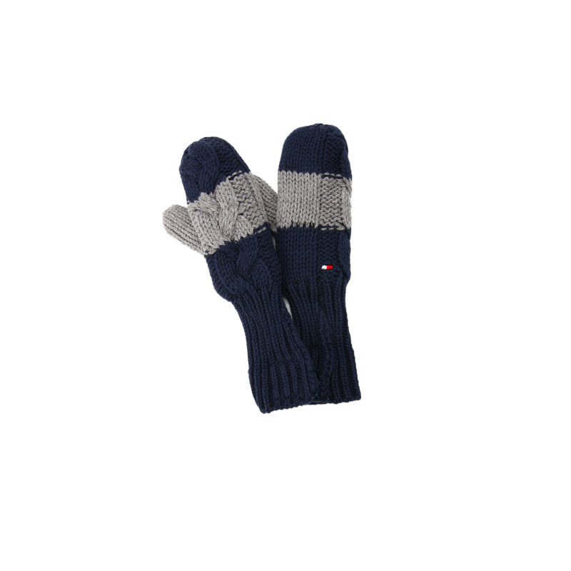 Color Block Gloves Tommy Hilfiger navy blue