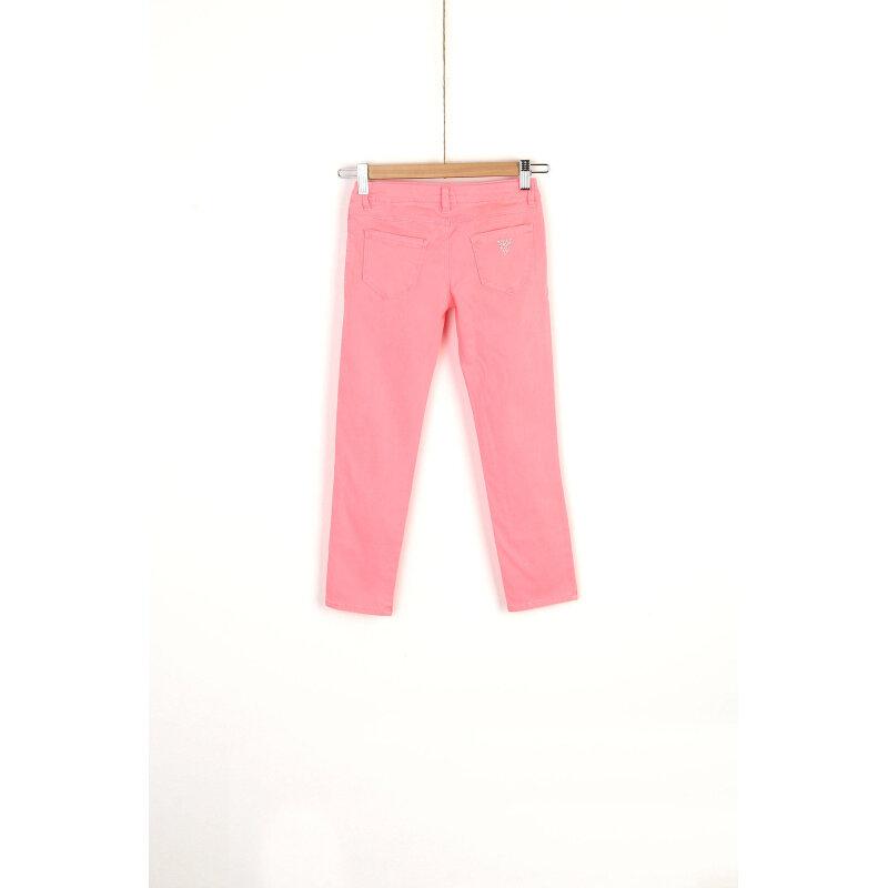 Spodnie Guess różowy