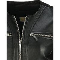 Leather Jacket Michael Kors black