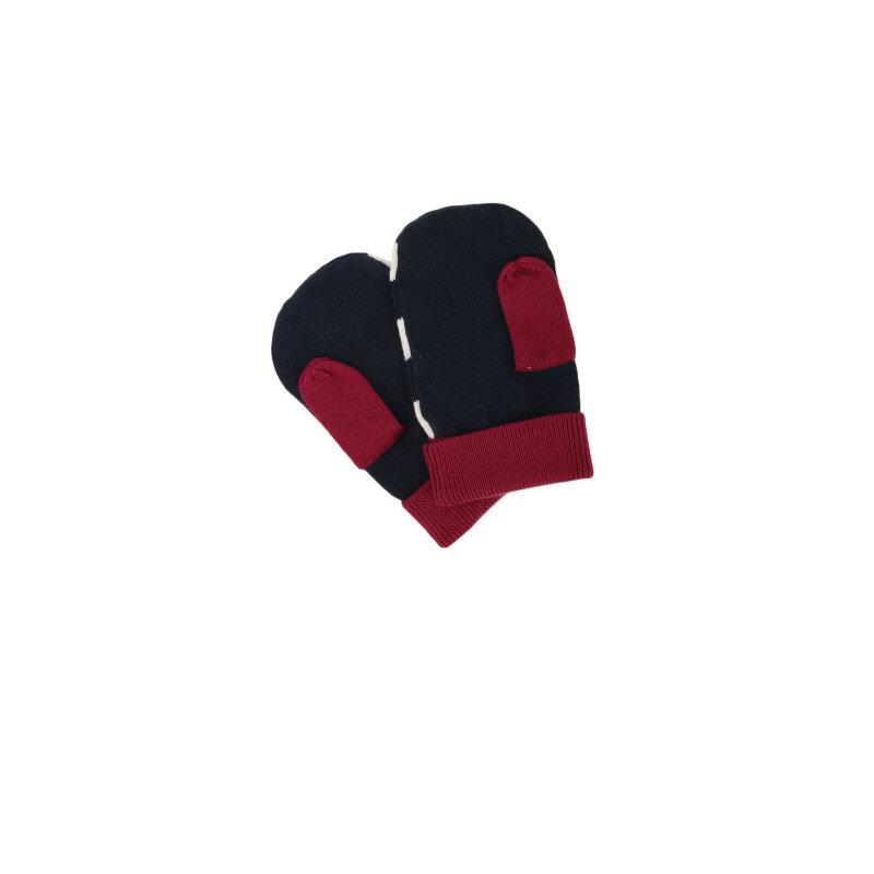 Rękawiczki Color Block Mini Tommy Hilfiger granatowy