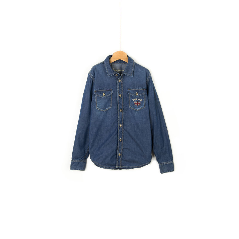 Albert Shirt Pepe Jeans London navy blue