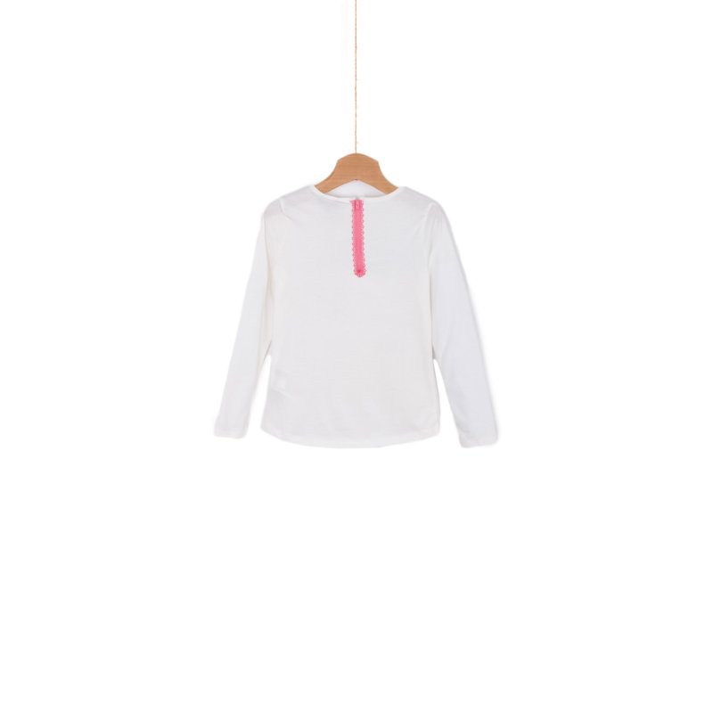 Bluzka Rose Mini Tommy Hilfiger kremowy