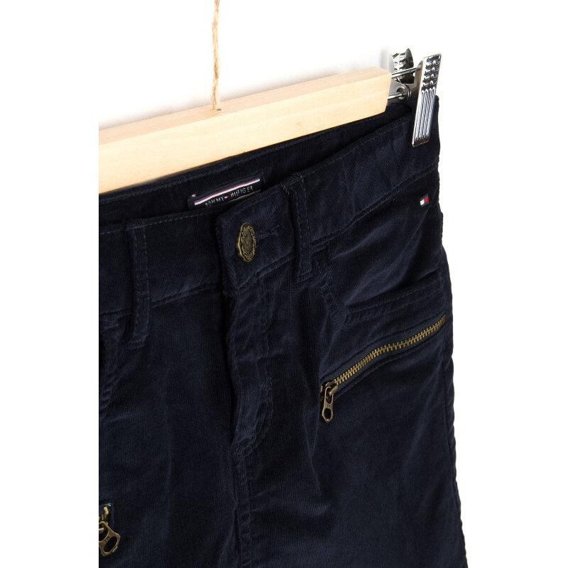Ribcord Skirt Tommy Hilfiger navy blue