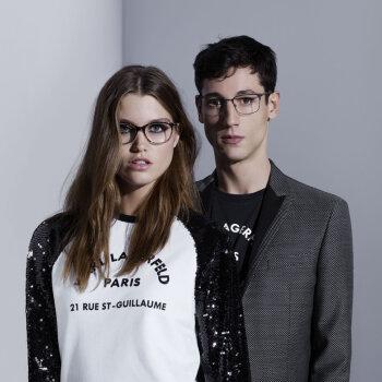 Nicolas Ripoll i Luna Bijl w kampanii Karl Lagerfeld SS18