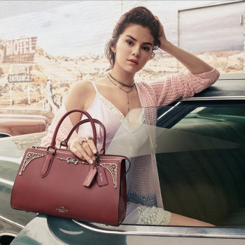 Selena Gomez in Coach's Fall 2018 campaign