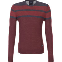 Sweter Armani Jeans bordowy