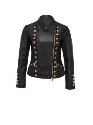 Pinko Numbers Leather Jacket