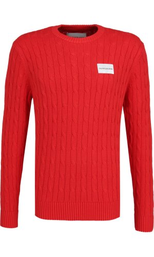 Calvin Klein Jeans Sweter Cable Knit | Regular Fit