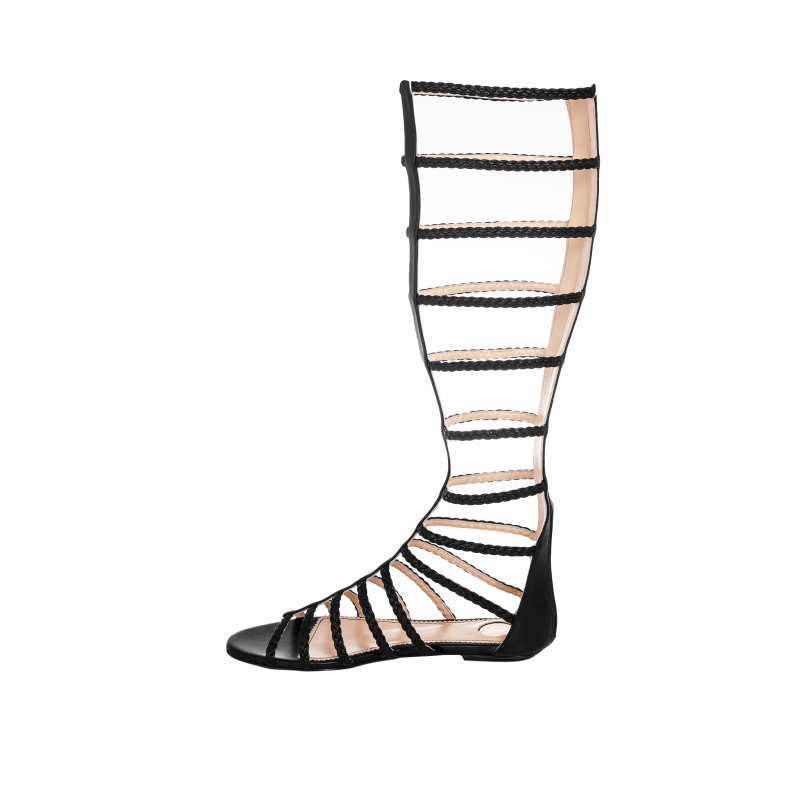 Gladiator sandals Elisabetta Franchi black