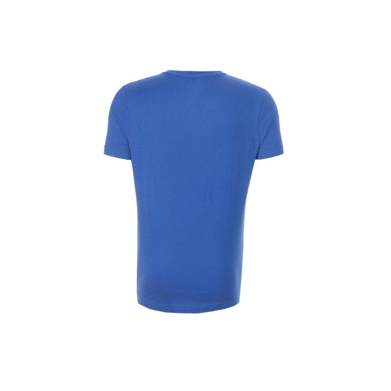 T-shirt Es Karl Tommy Hilfiger niebieski