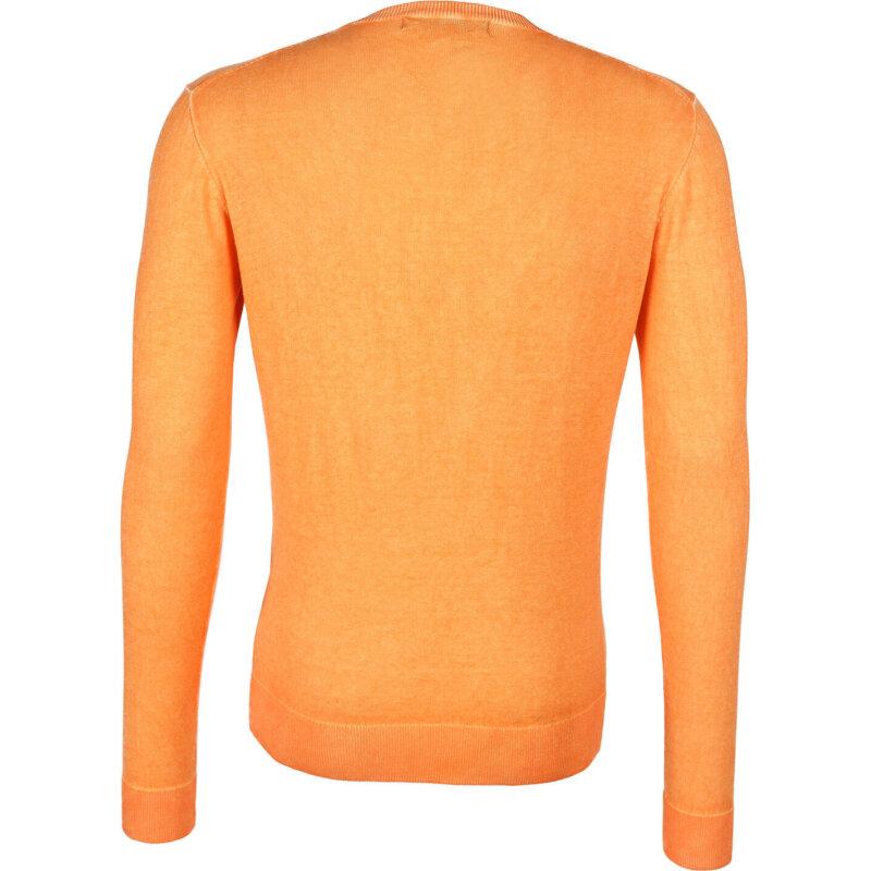 Sweter Lagerfeld pomarańczowy