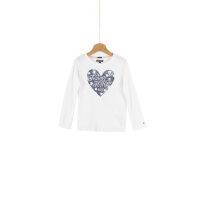 Bluzka Heartflag Tommy Hilfiger kremowy