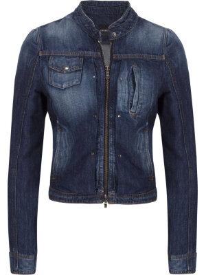 Emporio Armani Kurtka jeansowa | Regular Fit | z dodatkiem lnu