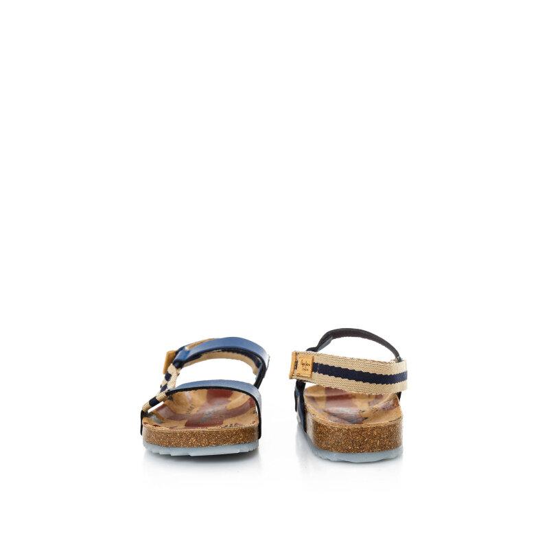 Sandały Bio Velcro Pepe Jeans London granatowy