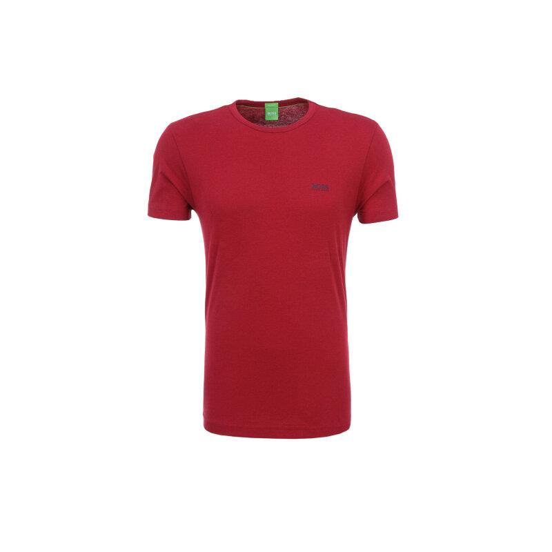T-Shirt Tee Boss Green bordowy