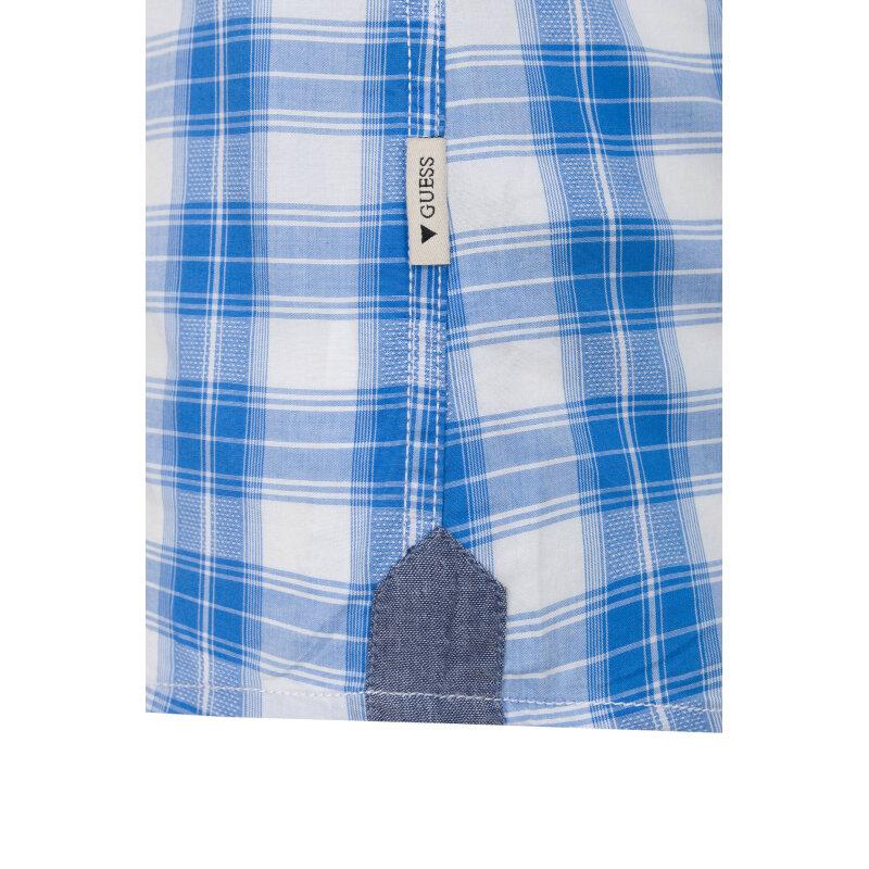 Koszula Guess Jeans błękitny